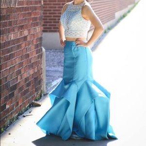 Two piece mermaid trumpet dress